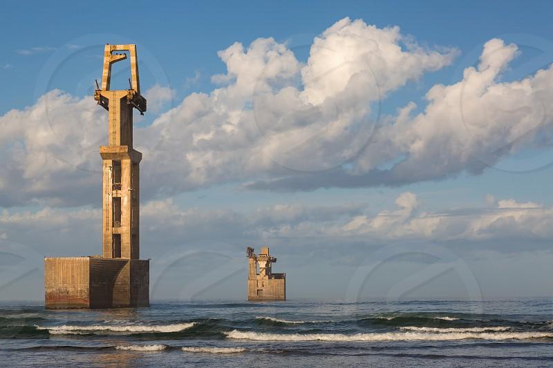 Old construction port of Sidi Ifni Morocco southwestern eastern Atlantic coast photo