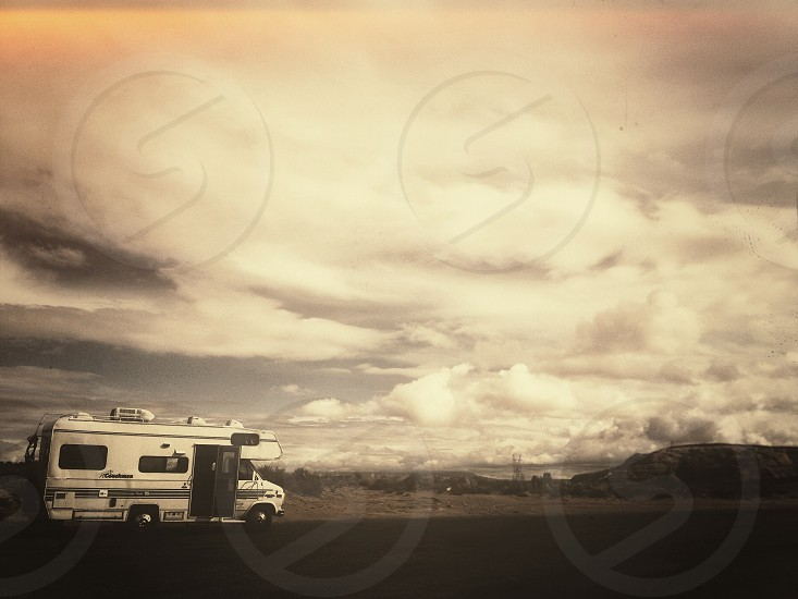 white rv camper photo