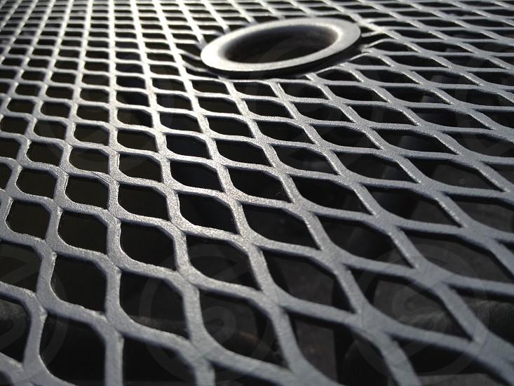 Metal chair base at an angle. photo