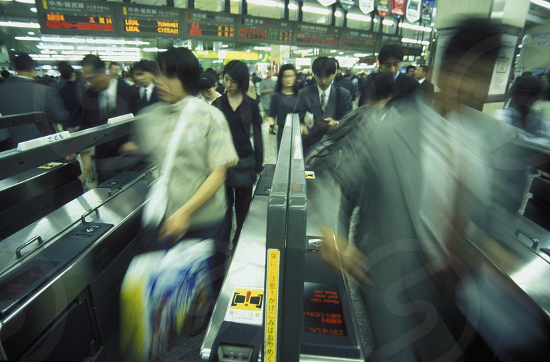 a Metro Station in the City centre of Tokyo in Japan in Asia photo