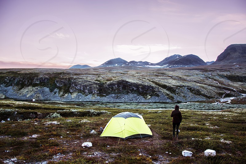 Camping in Ronande national park // Norway photo