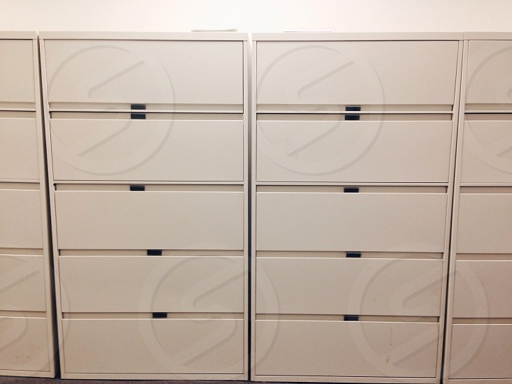 Filing cabinets office  photo