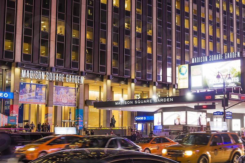 night scene in New York photo
