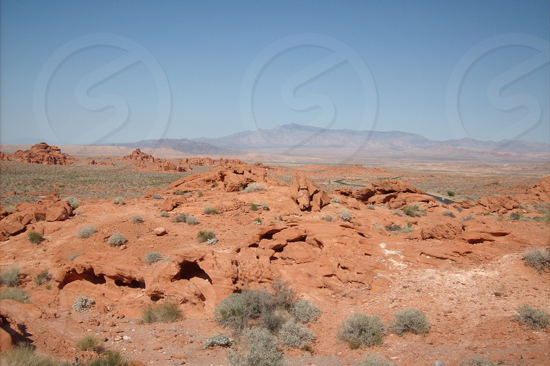 Desert and small mountains photo