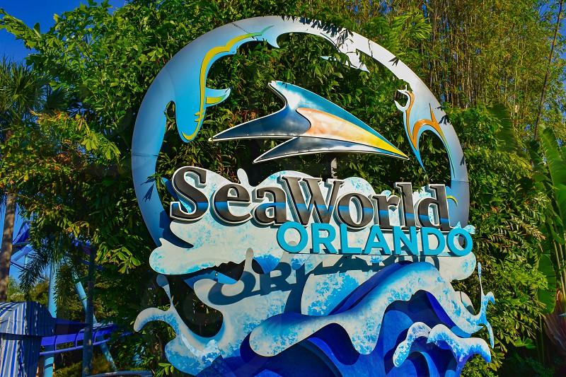 Orlando Florida . February 26  2019. Seaworld sign at Theme Park. photo