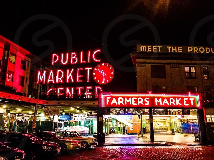 Seattle public market pikes farmers market photo