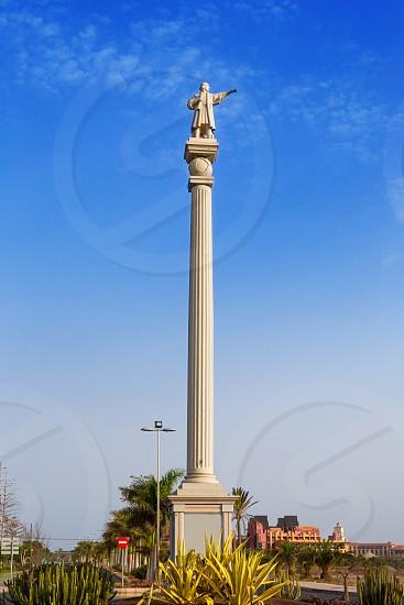 Cristobal Columbus colon statue in Maspalomas Gran Canaria photo