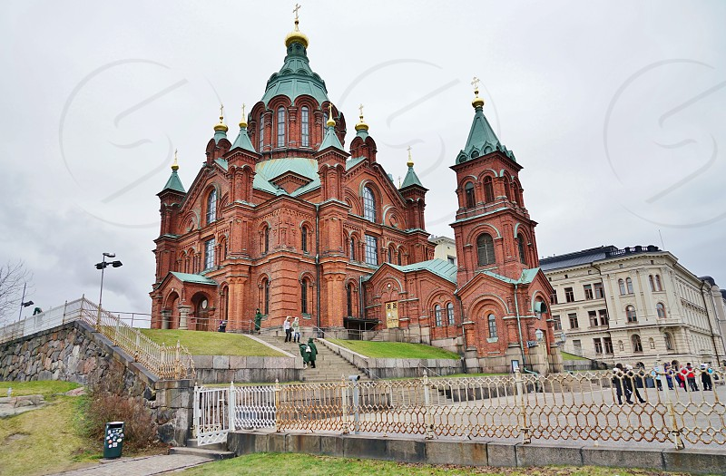 The Uspenski Cathedral in Helsinki Finland photo
