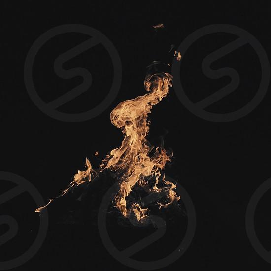 fire flame flames burn burning hot heat bonfire consume camp campfire  photo