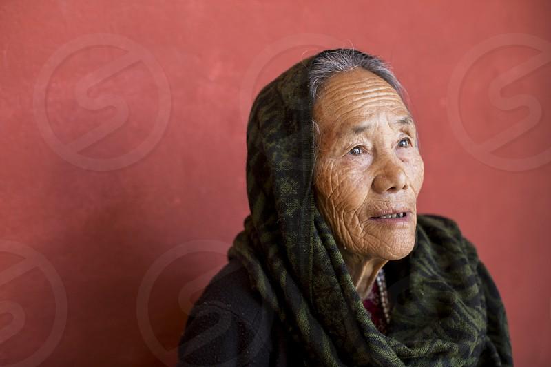 Strong Nepali woman. photo