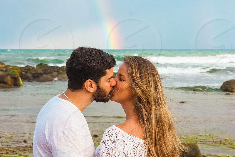 Beautiful Authentic Young Couple At The Beach photo
