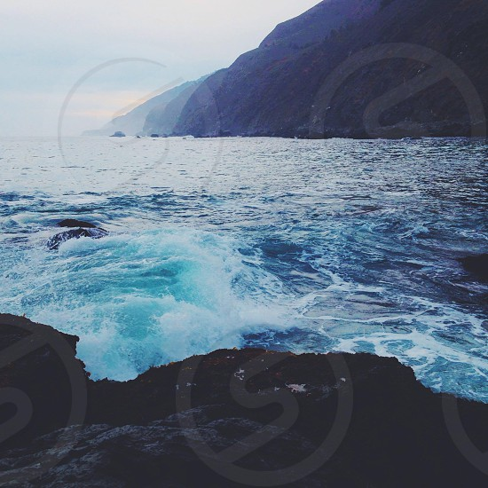view blue sea water photo