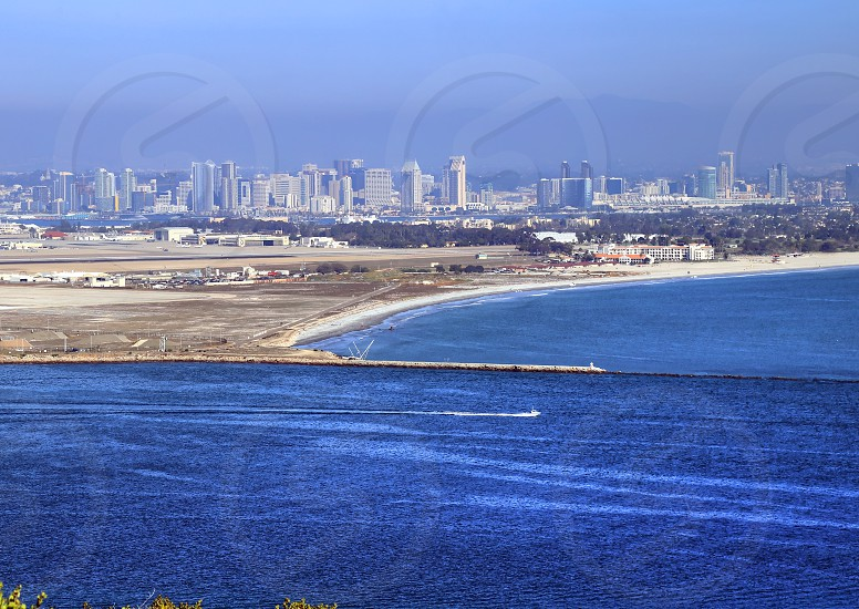 View of San Diego California from the Cabrillo National Monument at Point Loma. photo