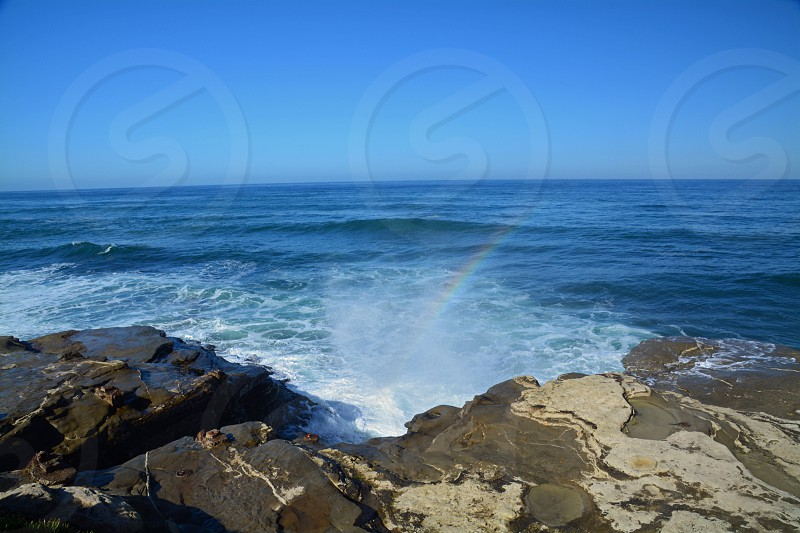 Ocean spray ocean Pacific Ocean California pacific coast photo
