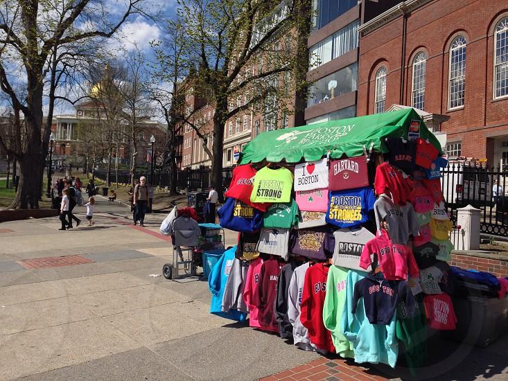 multicolored t-shirt vendor photo