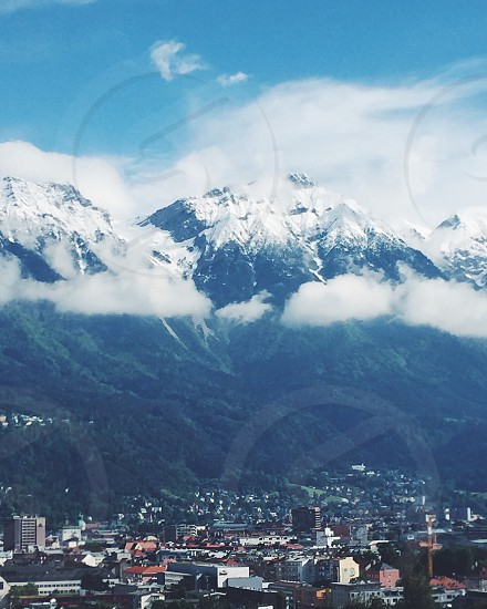 City alps mountains buildings Austria vacation downtown urban nature Sky photo