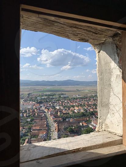 Rasnov village view during a summer day of september Transylvania Romania photo