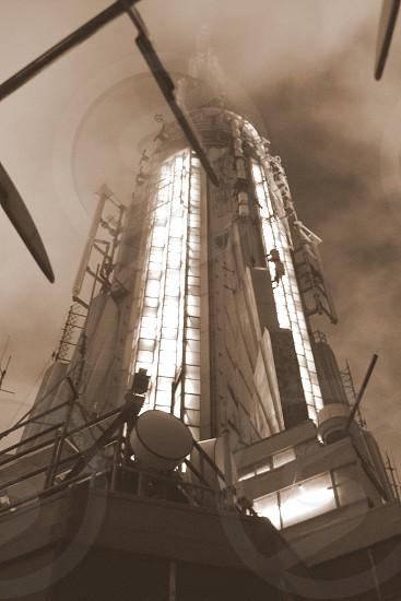Foggy tower photo