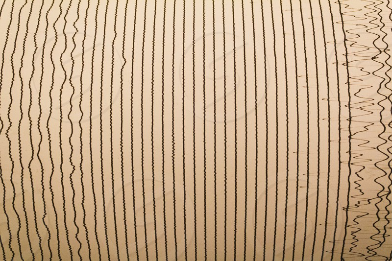 The lines that characterize the danger scale of an earthquake. photo