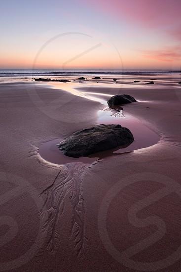 Sunrise at Embleton Bay Northumberland England UK photo