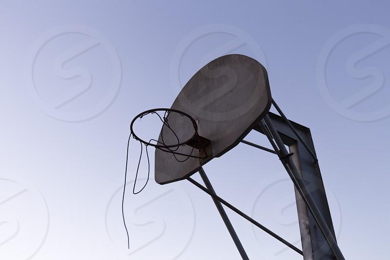 weathered basketball nobody photo