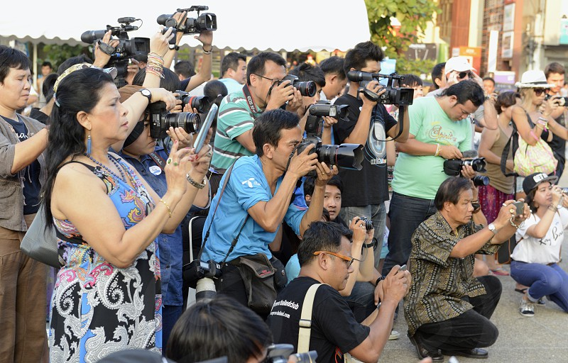 thai media on a event in the city of chiang mai in the north of Thailand in Southeastasia. 