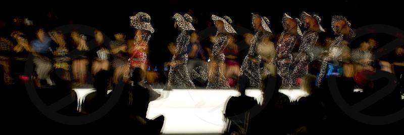 multiple exposure fashion walk photo
