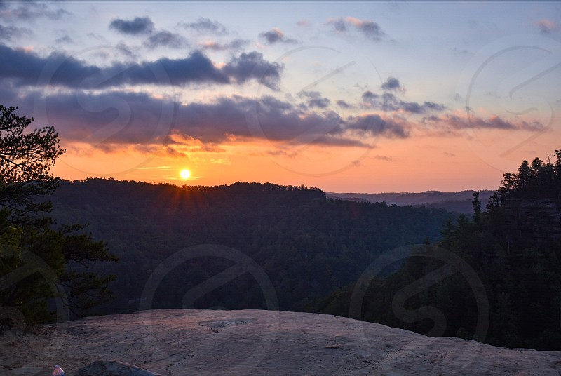 Beautiful Sunrise From Red River Gorge photo