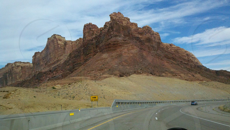 Scenic Mountain shot while passing through Utah photo