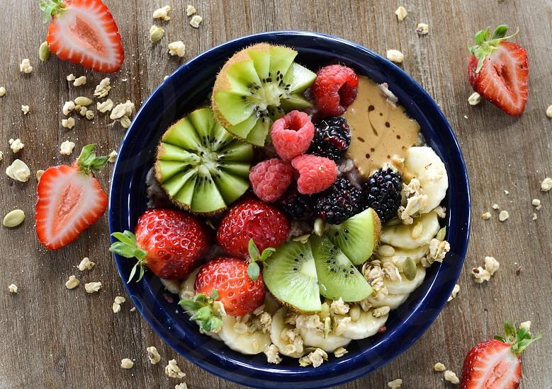 Smoothie bowl healthy photo
