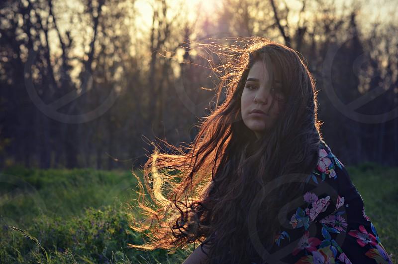 Long hair exotic art photo
