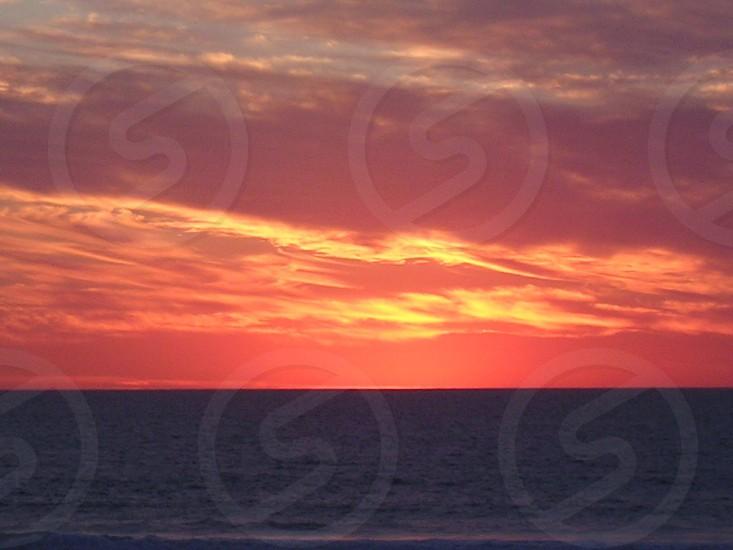 Burning sky sunset photo