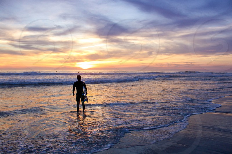 Surfer sunset surf moments love outdoors photo