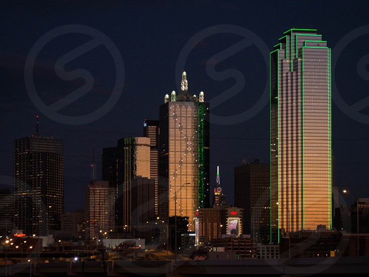 Dallas skyline at dusk. photo