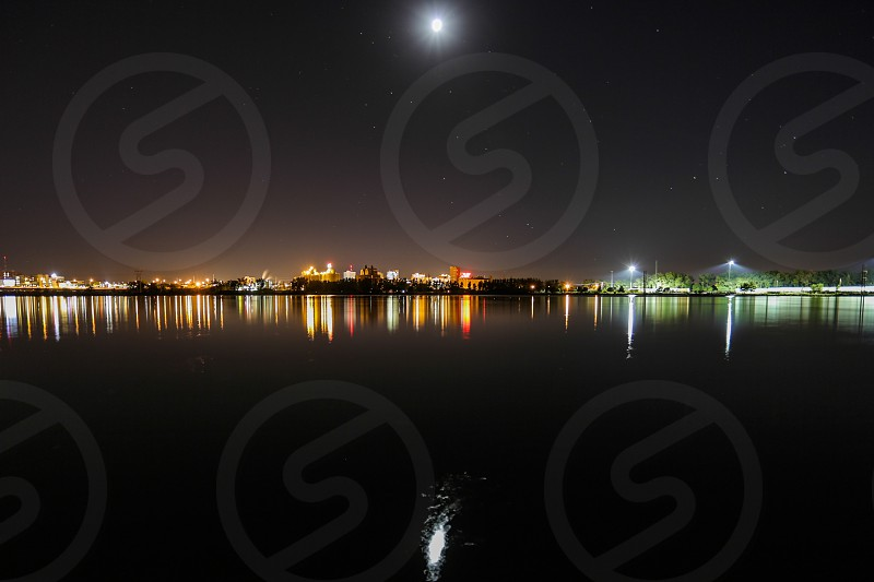 nigh city by the bay photo photo