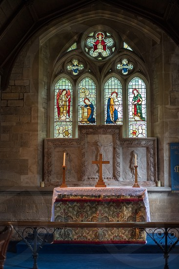 Interior View of St. Mary's Church in Lower Slaughter photo