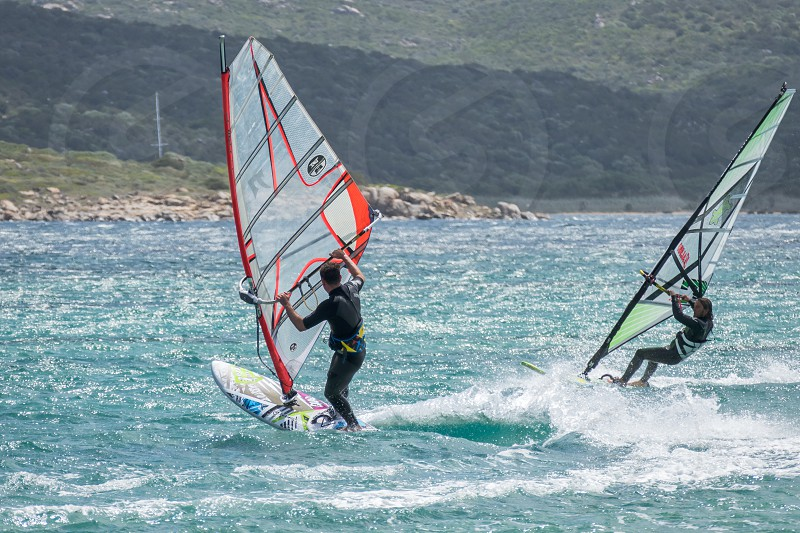 Windsurfing at Porto Pollo in Sardinia photo