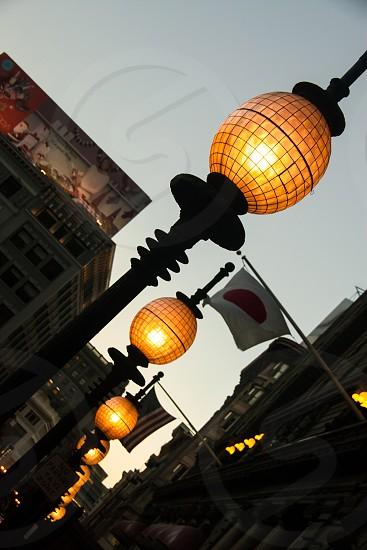 Lights on in Japantown San Francisco California photo