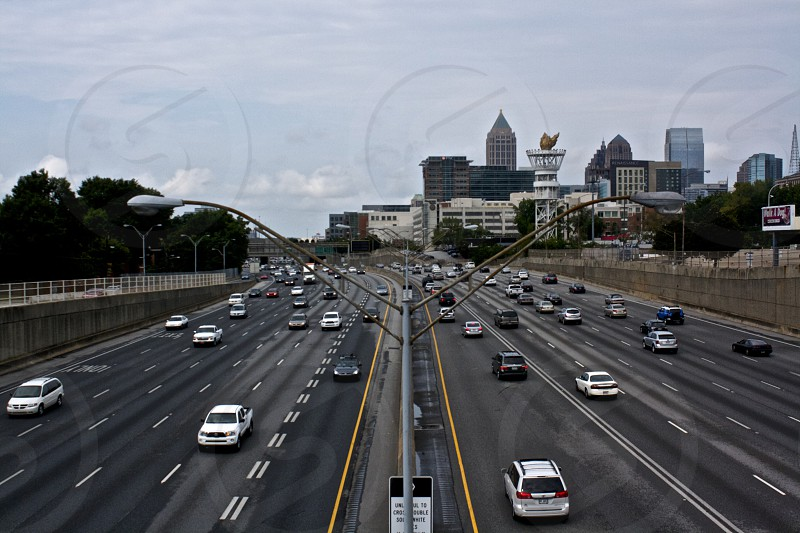 I-75 from the North Avenue Bridge in Atlanta GA. photo