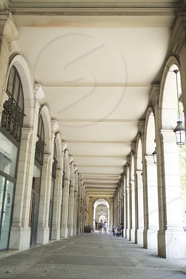 architectural repeating arches     photo
