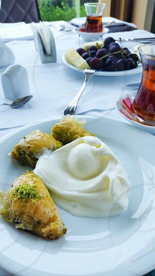 baklava Turkish desert Rixos hotel Antalya Turkey photo