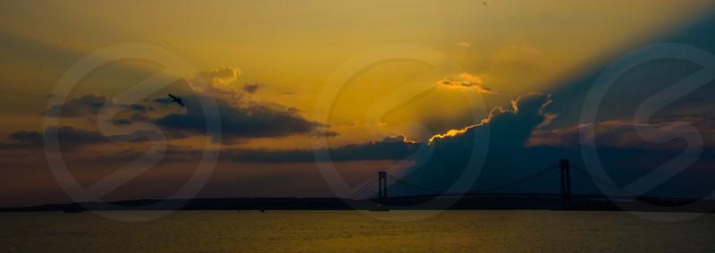 Sunset bridge photo