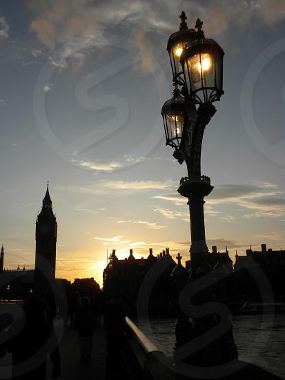 Lamp post and Big Ben.  photo