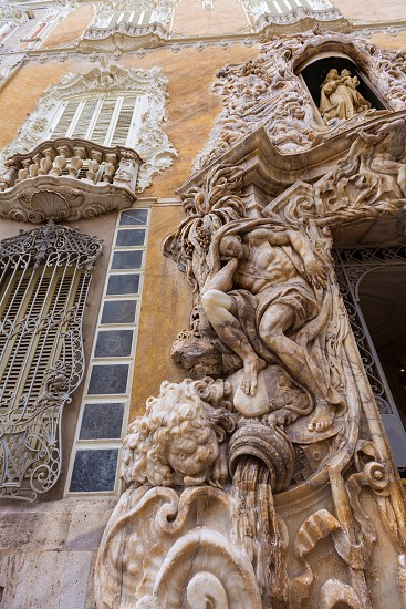 Valencia Palacio Marques de Dos Aguas palace facade in alabaster at Spain photo