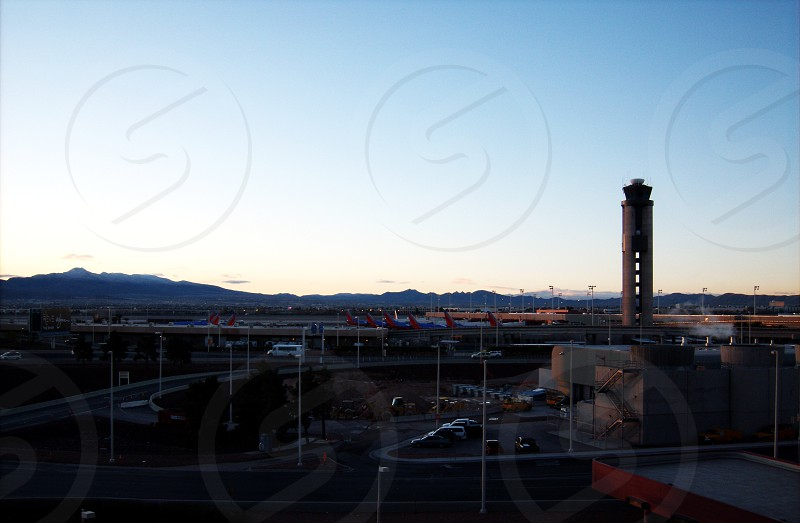 Looking East from airport in Vegas photo