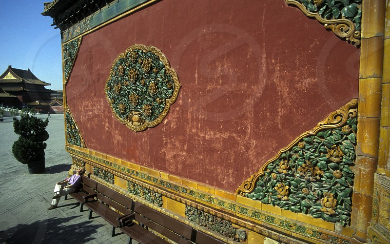 the forbidden city in the city of beijing in the east of china in east asia.  photo