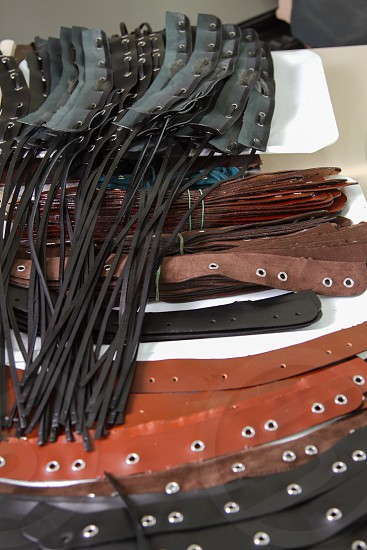 Leather straps photo