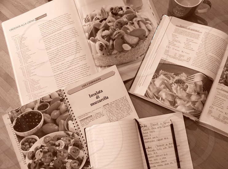 white cooking recipe book photo