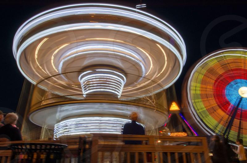 Color amusement park motion  photo