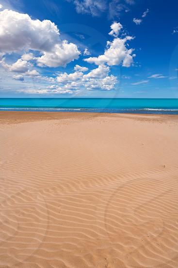 Valencia Malvarrosa Patacona beach in Mediterranean sea of Spain photo